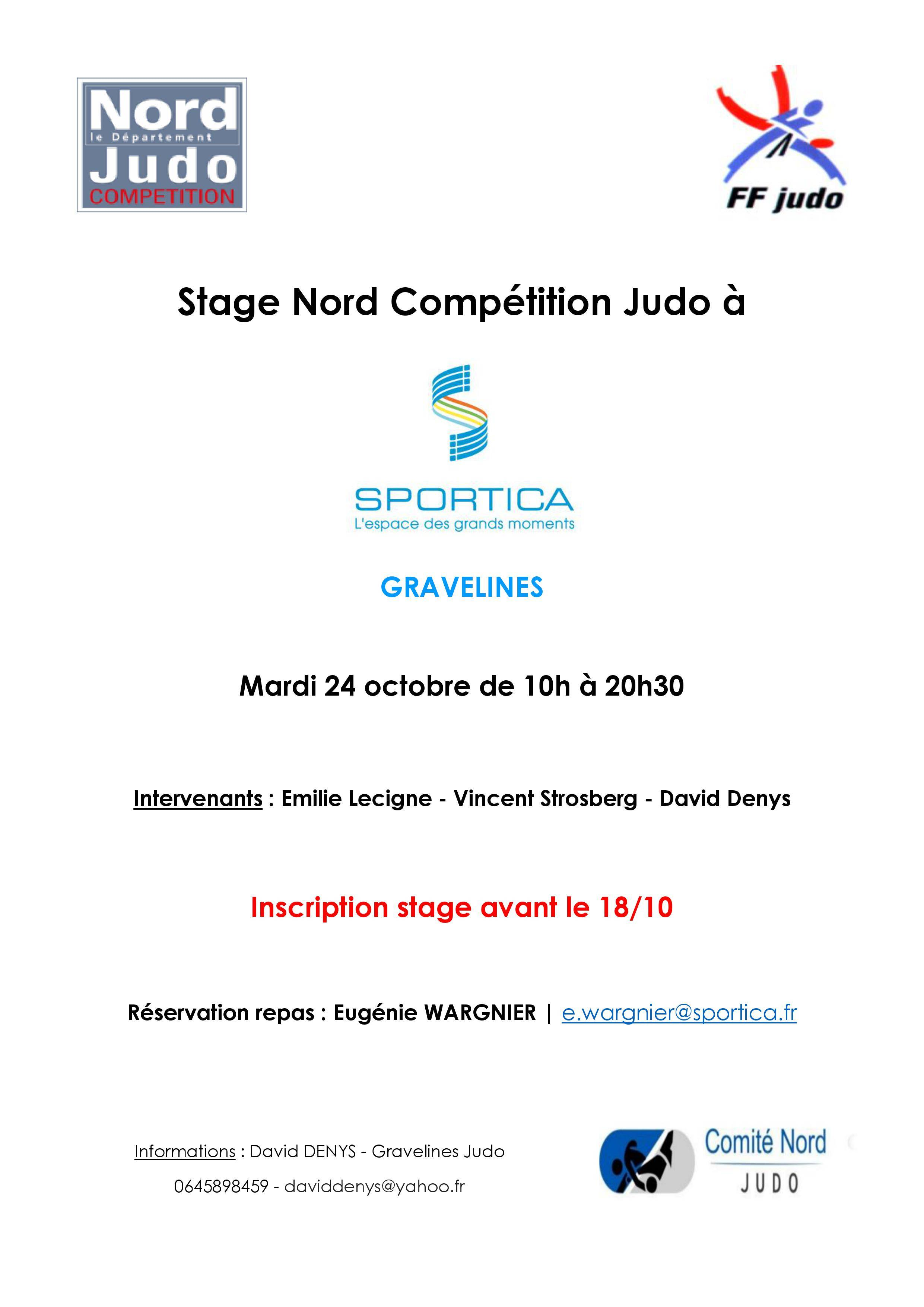 Stage Nord Compétition Judo