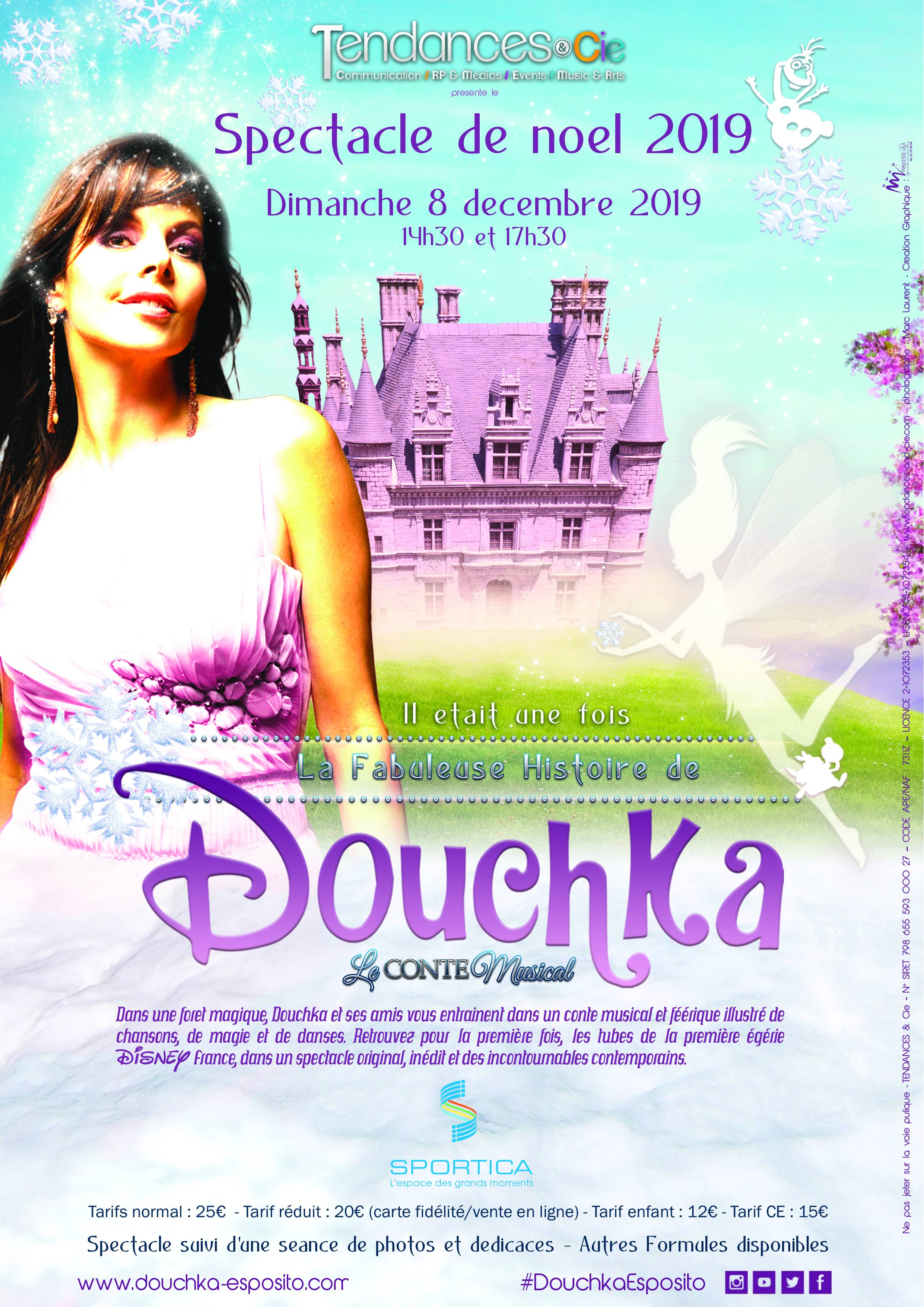 Douchka, 1ère égérie de Disney France - Spectacle de noël